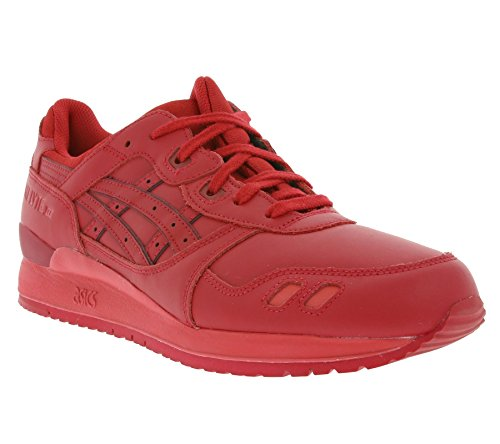 Asics Gel Lyte III-hombres rojos H63QK la zapatilla de deporte 2323 Rojo