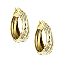 18K Double Hoop Earrings