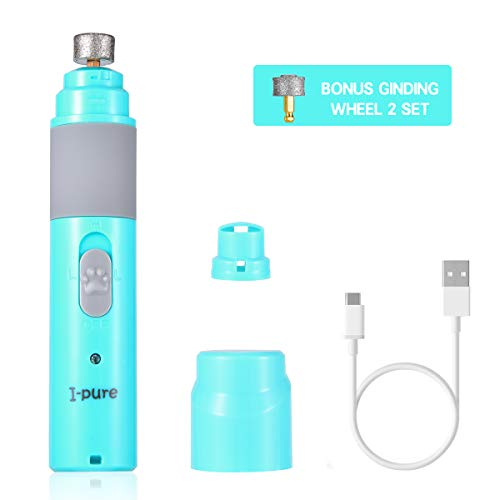Dog Nail Grinder, Pets Electric Rechargeable Nail Trimmer Clipper...
