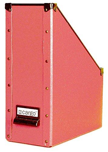 Cargo Naturals - Archivador de revistas, 30,48 x 25,4 x 10,16 cm, Rojo especia, 1