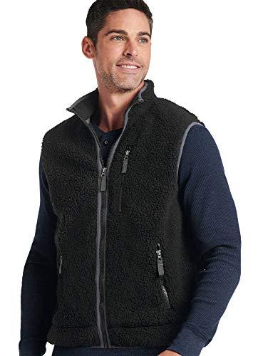 Jockey Men's Sportswear Sherpa Vest, Black, L (Jockey Vests Mens)