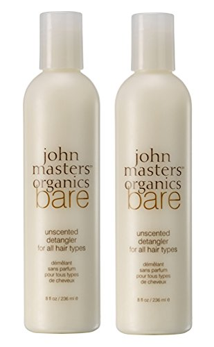 John Masters Organics Bare Unscented Detangler (Pack of 2) with Arnica, White Tea, and Chamomile, 8 fl. oz. by John Masters