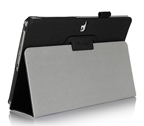 ProCase Samsung Galaxy Tab 2 10.1 Case - Flip Stand Leather Folio Cover Case for Samsung Galaxy Tab 2 10.1 Inch Tablet with Stand, GT-P5110 P5100 (Black) (Galaxy Pedestal)