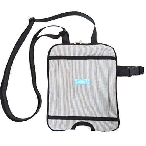 Hcwlxjy Bladder Ostomy Elderly Drainage Bag Care Package Catheter Cover Leg Support Kit Urinal Holder Urine Adjustable Shoulder Strap for Home,Travel,Wheelchair,Bed,Gray,2000ml