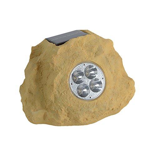Homebrite Solar 33837/3 Solar Power Spot Lights, Set of 3, Sandstone Rock, Jumbo by Homebrite Solar
