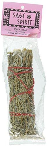 Cedar Sage (SAGE SPIRIT Sage Cedar Smudge Wand 6-7, 0.02 Pound)