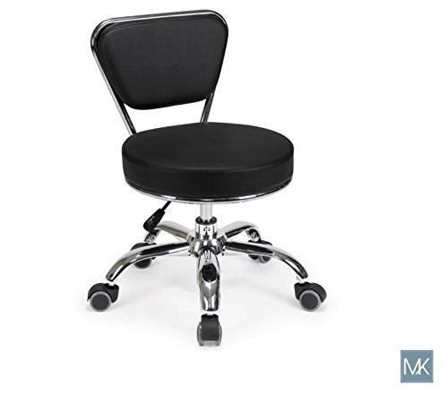 Salon Nail Pedicure Stool Pedicure Chair DAYTON BLACK Pneumatic, Adjustable, Rolling Salon Furniture & Equipment