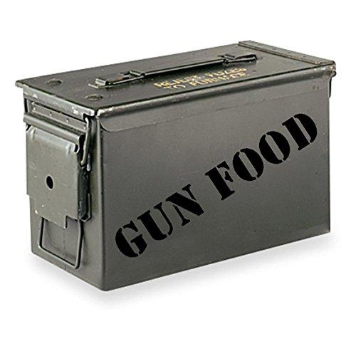 Gun Food Ammo Can Sticker - Black 7