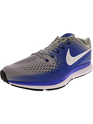 0b9f6590825e9 Nike Men s Air Zoom Pegasus 34 Flyease Wolf Grey White - Racer Blue Ankle-