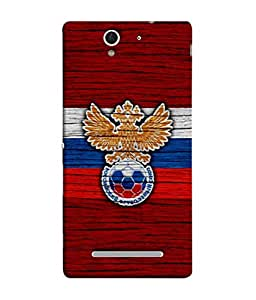 ColorKing Football Russia 17 Red shell case cover for Sony Xperia C3