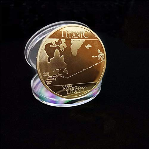 Magic Coin - Titanic Decorative Gold Coin Commemorative Collection Family Decoration With Shell - Shell Trick Cover Halloween Coin Trick Plain Coin Trick Coins Magic Non-currency Titan Poland Muf