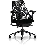 Herman Miller Sayl Task Chair: Tilt Limiter - Adj Lumbar Support - Stationary Seat Depth - Fully Adj Arms - Standard...