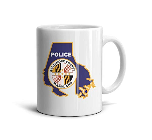 FSVDA Mugs 11Oz Maryland-Baltimore-County-Police- White Drinks Cup (Police County White)