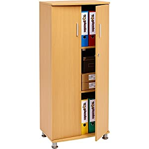 Tall Cupboard with 3 shelves Storage Filing Cabinet Matching Range ...