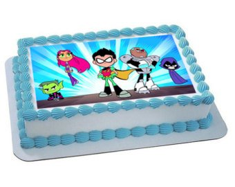 Amazon.com: Teen Titans Go Edible Cake Topper Sugar Sheet: Toys & Games