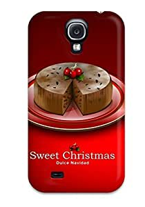 New Style Tpu S4 Protective Case Cover/ Galaxy Case - Dulce Navidad Sweet Cake Red Background Xmas Santa Claus Holiday Christmas