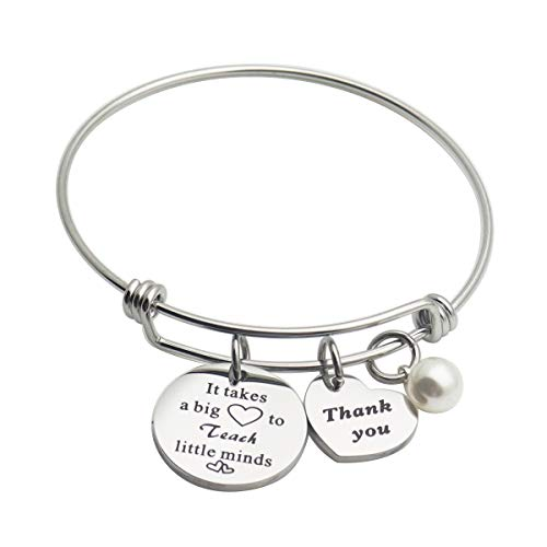 Teacher Gifts from Student - It Takes a Big Heart to Shape Little Minds Teacher Appreciation Gifts Key Chain End of The Year Gifts for Teachers (It Takes a Big Heart to Teach Little Minds)