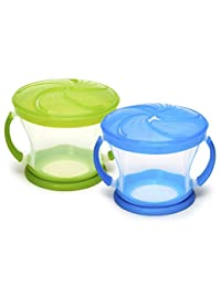 Munchkin 2 Piece Snack Catcher, Blue/Green BOBEBE Online Baby Store From New York to Miami and Los Angeles