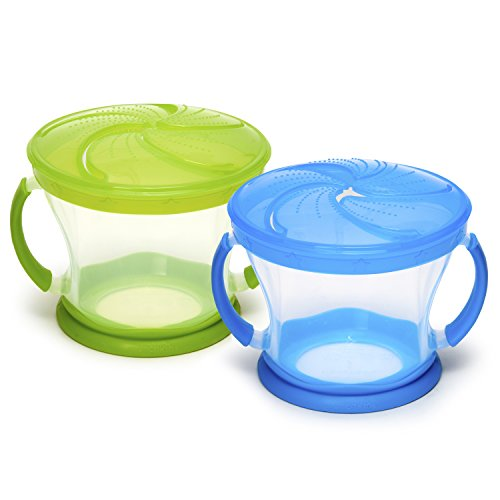Munchkin 2 Piece Snack Catcher, Blue|Green