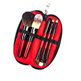 Gangglis Makeup Brush Cosmetic Tool 5Pcs Set Powder Cheek Eyeshadow Eyeliner Brow