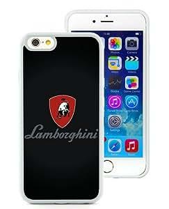 High Quality iPhone 6S TPU Skin Case ,Lamborghini Logo White iPhone 6S Screen Cover Case Popular And Unique Custom Designed Phone Case