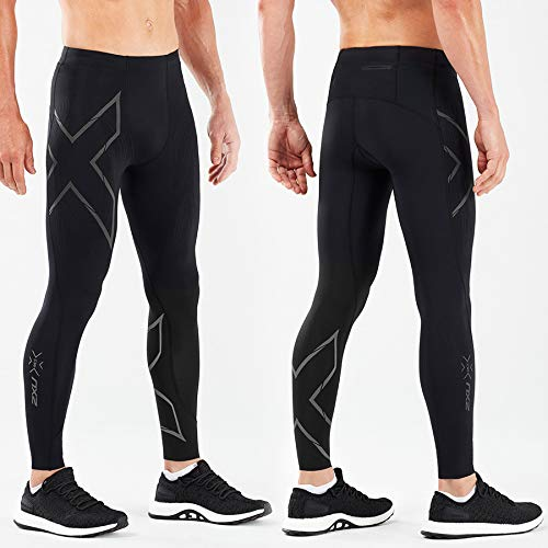 2XU MCS Run Compression Tight, Black/Black Reflective, Large by 2XU (Image #2)