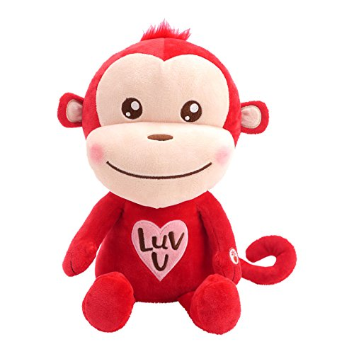 Hallmark Luv Monkey Plush Stuffed Animal with Sound, Valentine's Day Version of U Can't Touch This by MC Hammer