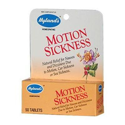 Hylands Motion Sickness 50 Tabs - Hylands Motion Sickness Tablet - 50 per Pack - 6 Packs per case.