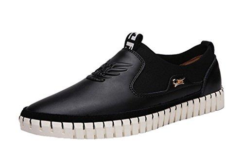 Tda Mens New Fashion Leggero In Rilievo In Pelle Da Uomo Daffari Mocassini Sneaker Nero