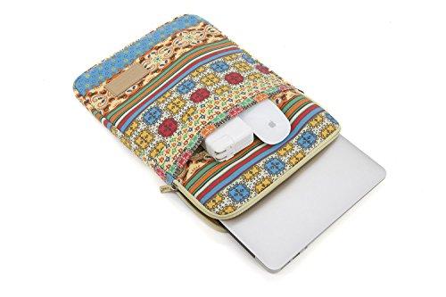 Kinmac Canvas Computer Laptop Bags Men Women Cover Case Briefcase Messenger Bag MacBook Case Bage (Sunlight, 15inch/15.6inch/MacBook Pro 15)
