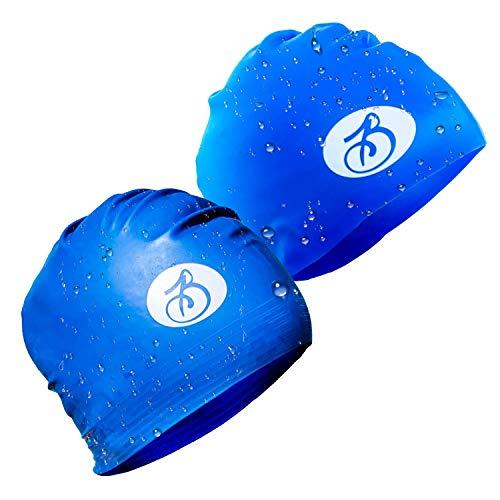 (Bianchi Olympic Swim Cap 2-Pack (Silicone + Latex))