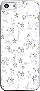 purple flowers floral Hard Unique Designer Slim Pattern Thin Protective Shockproof Drop Proof Cover Protector Case for Apple Iphone 5C