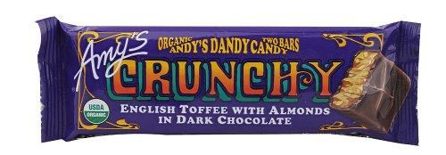 Gluten Free Candy Bar by Amy's Kitchen, Crunchy, 1.5 oz (12)