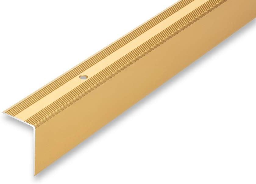ungebohrt gebohrt selbstklebend , bronze Treppenwinkel 30 x 42 x 1000 mm 6 Farben ungebohrt 30 x 42 x 1000 mm Kantenprofilwinkel
