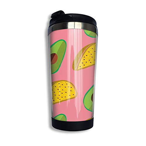 (Coffee Thermos Cup Tacos Everywhere With Avocado Stainless Steel Travel Mug Cup Water)