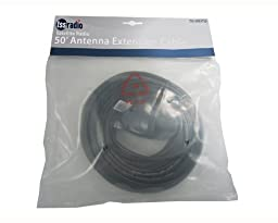 Audiovox Sirius SIREXT50 Indoor/Outdoor Antenna Extension 50-feet Cable - Black