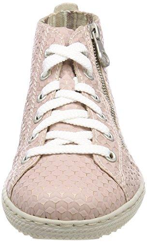 Rieker Damen L9447 Hohe Sneaker Rot (Rosa)