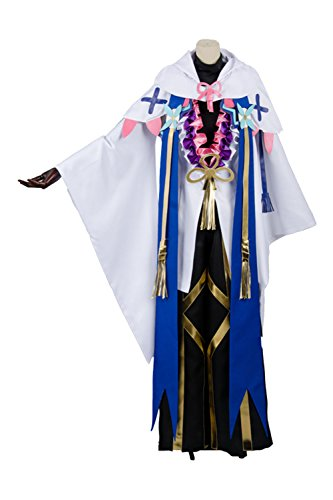 UU-Style Fate Grand Order Dress Party Uniform Women's Dress Merlin Ambrosius Cosplay (Colonial Girl Costumes Virginia)
