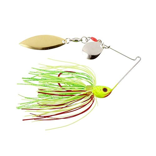 Strike King Bleeding Spinnerbait - Colorado/Willow (Bleeding Fire Tiger, 0.375-Ounce)