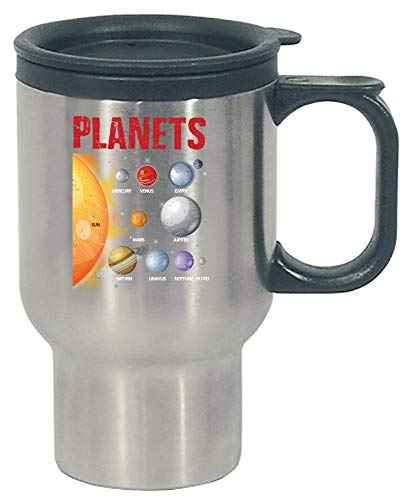 Funny Solar System - Planets Sun Moon - Space - Stainless Steel Travel Mug by Stuch Strength LLC