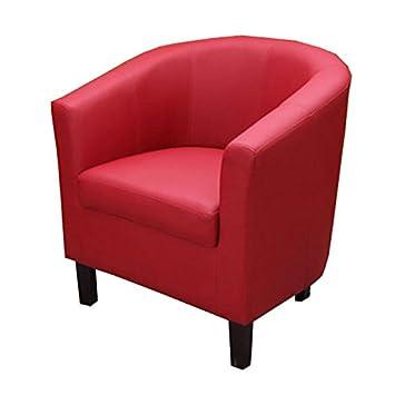 Mendler Lounge Sessel Club Sessel Sessel M66 Kunstleder Rot