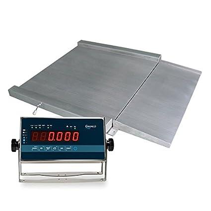 Báscula industrial acero inoxidable VERIFICADA RGI 1501 (3000Kgx1Kg) (150x150cm)