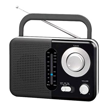 TM Electron TMRAD210 - Radio analógica FM/Am portátil, Color Negro ...