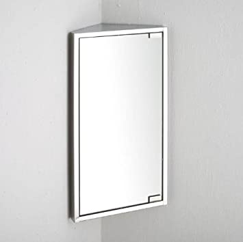 Bilbao Single Door 60cm X 30cm CORNER Mirror Bathroom Wall Cabinet