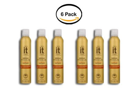 - PACK OF 6 - Freeze It Haircare Freeze Frame Hair Spray Mega Freeze Extreme Hold, 10.0 OZ