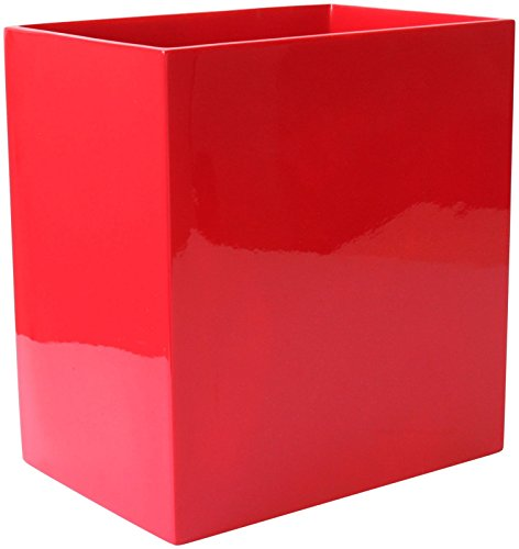 Jonathan Adler Lacquer Waste Basket, Red (Lacquer Trash Can)
