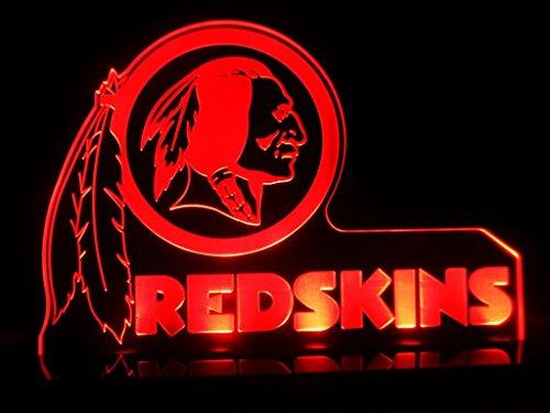 Nfl Washington Redskins LED Table Lamp Light Bedroom Beer Bar Sign New Gift