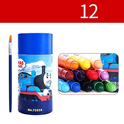 JWWOZ Water-Soluble Bright Pen, Washable, Safe and Non-Toxic, Send A Brush, Color Crayons Set Colored Pen