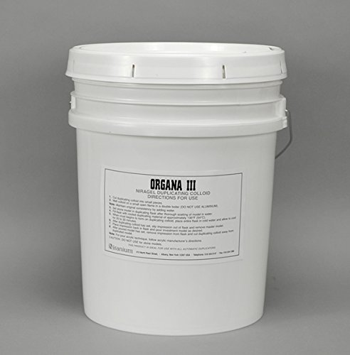 ORGANA III ALL PURPOSE DUP MATERIAL FOR ETHYL SILICATE AND POUR TECH. - 5 GALLONS (18.9 LITERS)