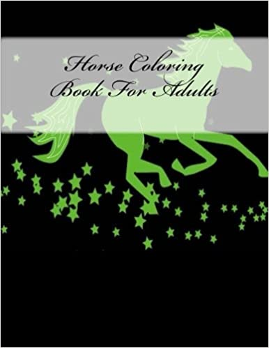 Amazon Com Horse Coloring Book For Adults 9781539494423 Angelica